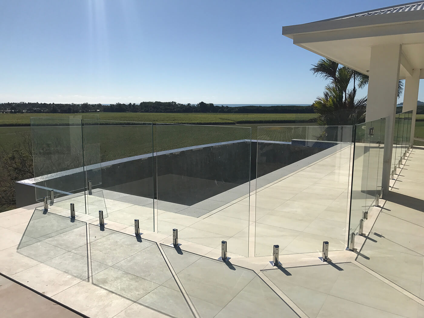 Custom designed Glass Pool Fence Cairns