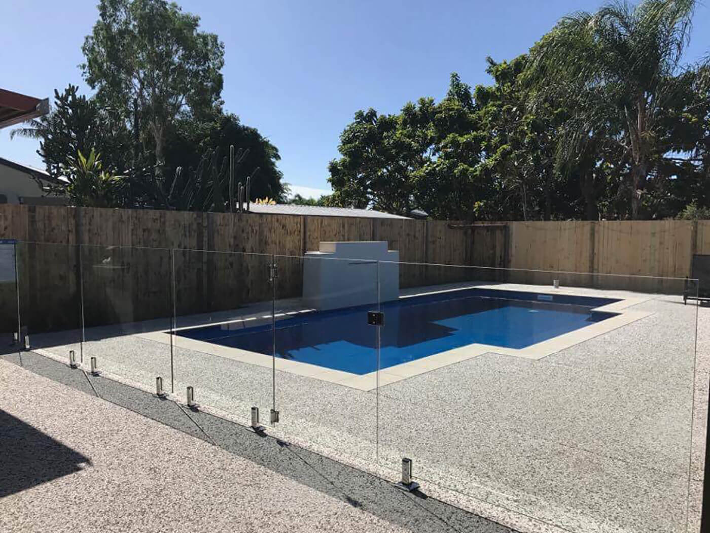 Fully Framless Glass Pool Fence