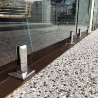 Stainless Steel Spigots with Safety Pool Glass, Cairns and Port Douglas
