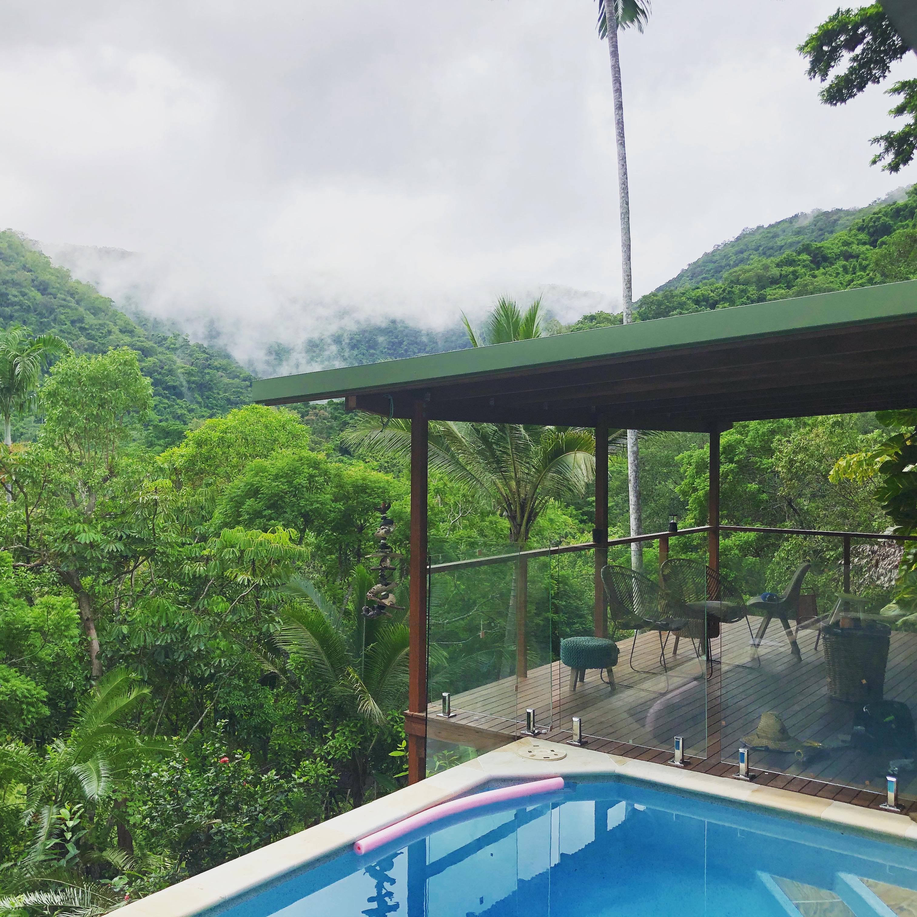 Glass pool fence views, mowbray qld