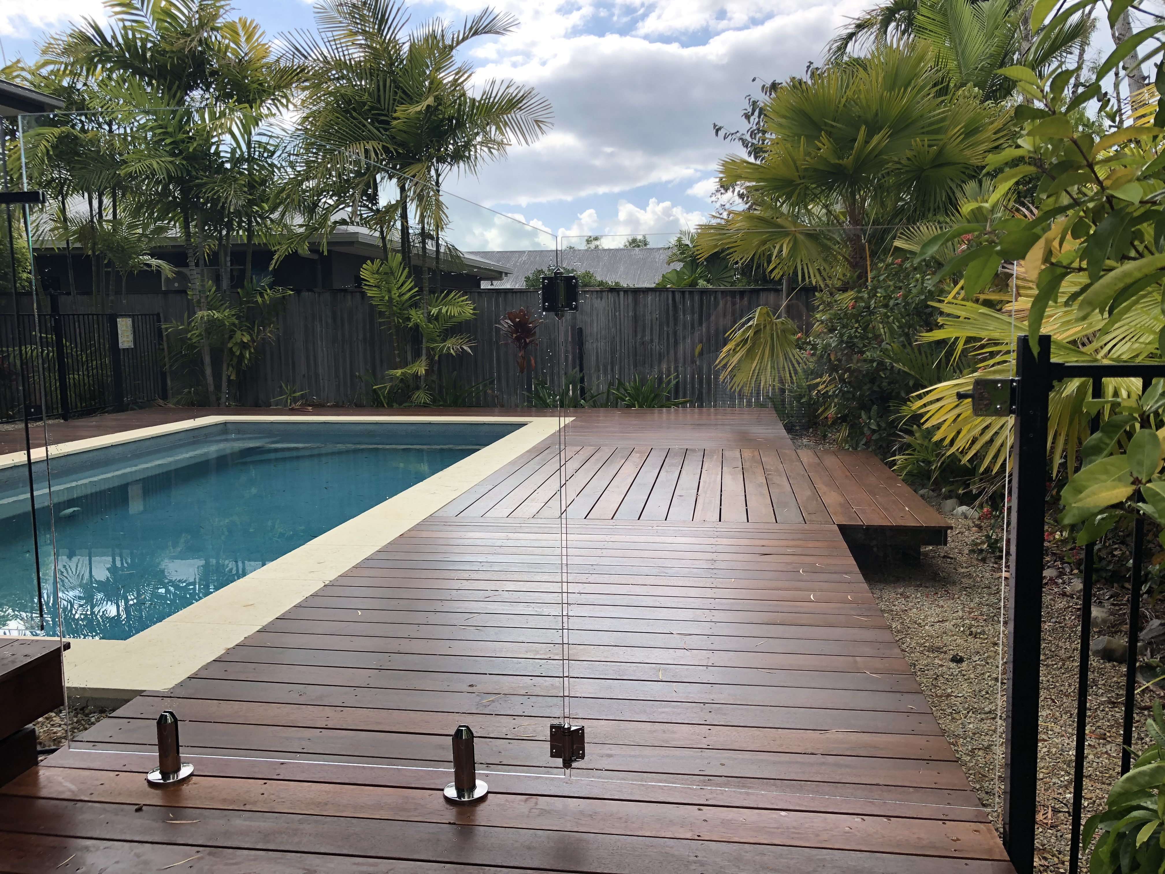 Glass Pool fencing with aluminium, Port Douglas