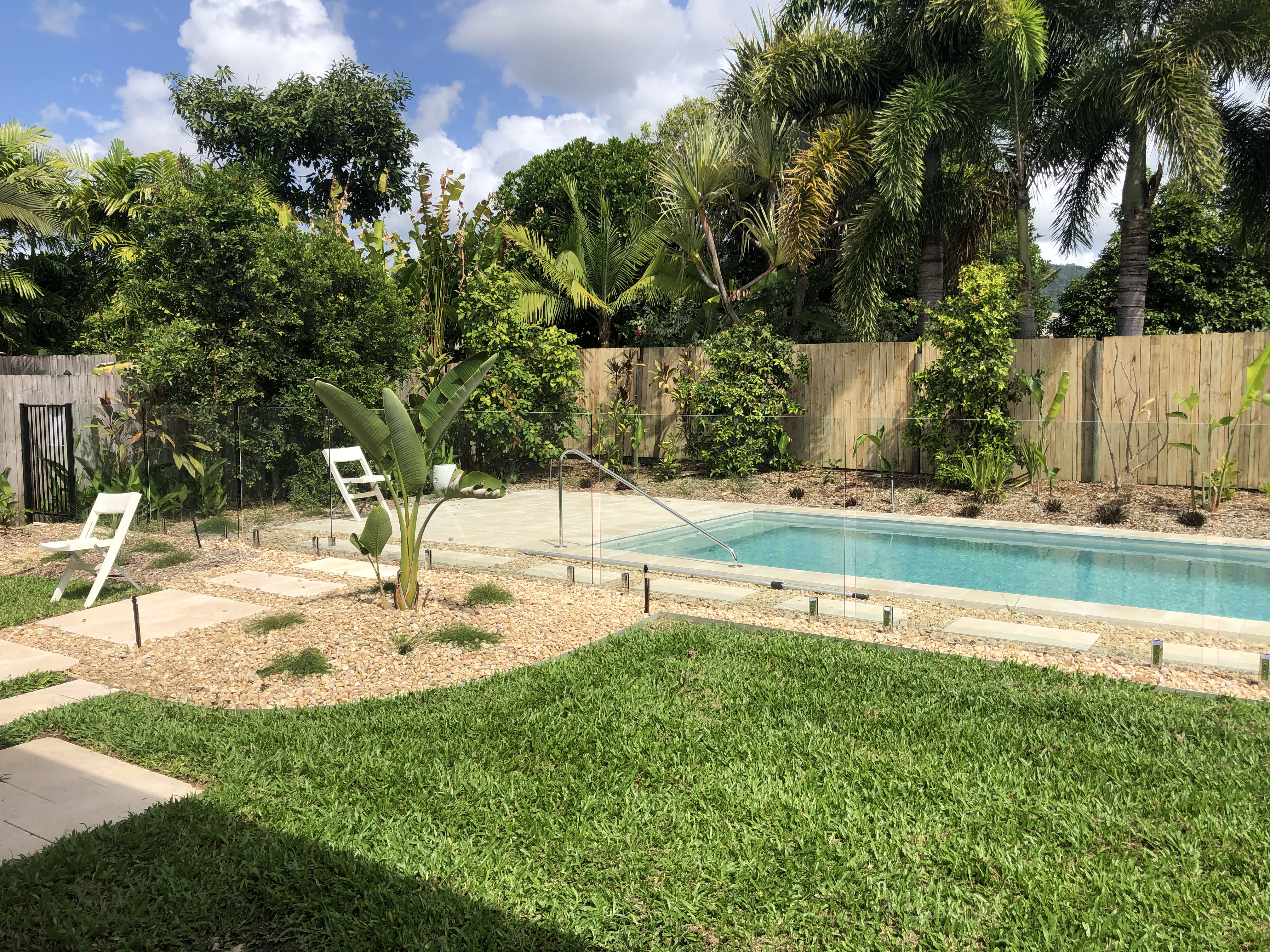 Framless glass pool fencing, renovation, Cairns
