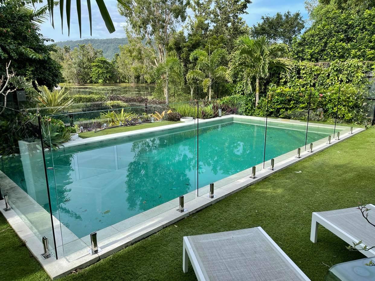 Fully Frameless Glass Pool Fence, Core Drilled, Port Douglas