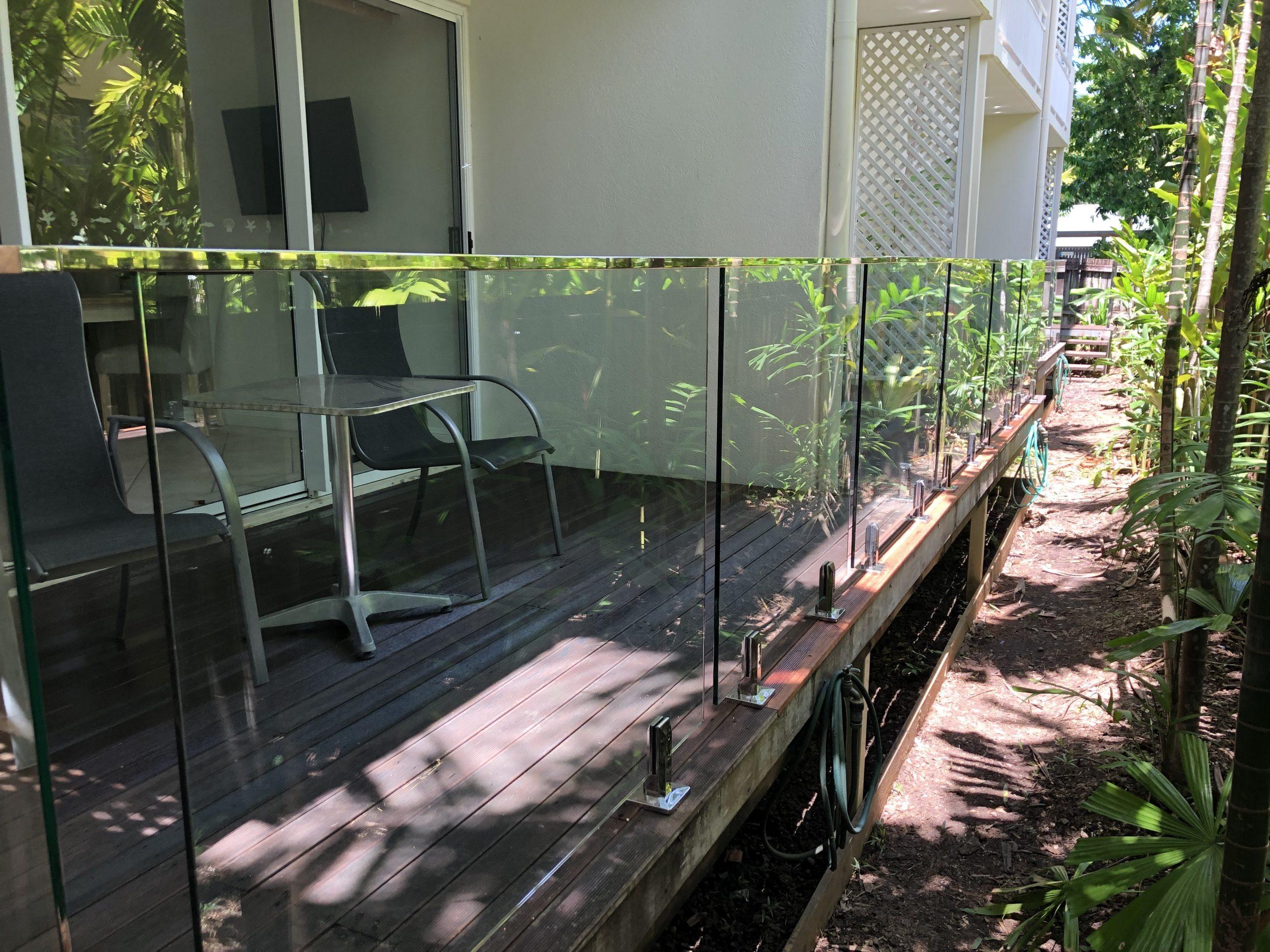 Deck Mounted, Fully Frameless Glass Balustrade