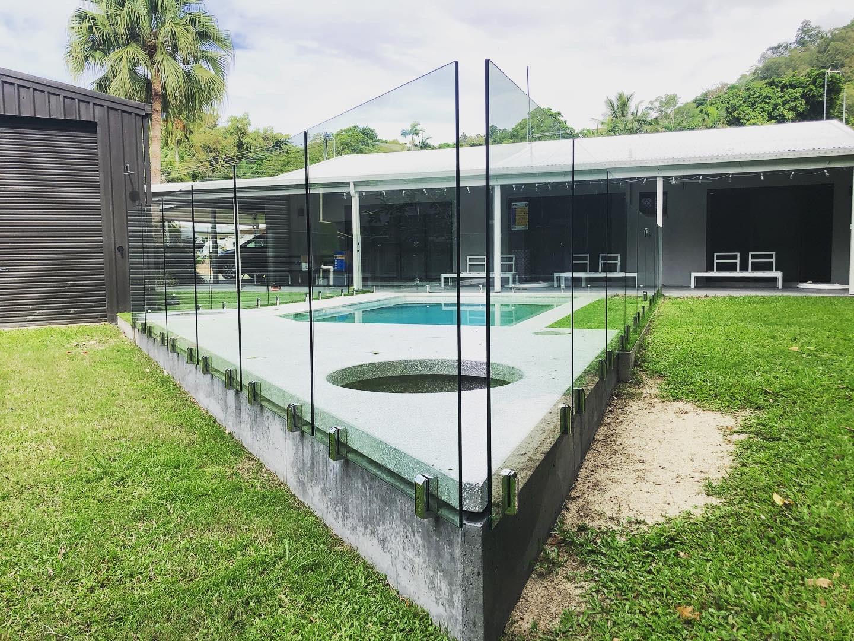 Fully Frameless Glass Pool Fencing, Trinity Beach, Cairns